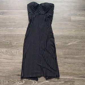Dresses & Skirts - Black Striped Pencil Dress